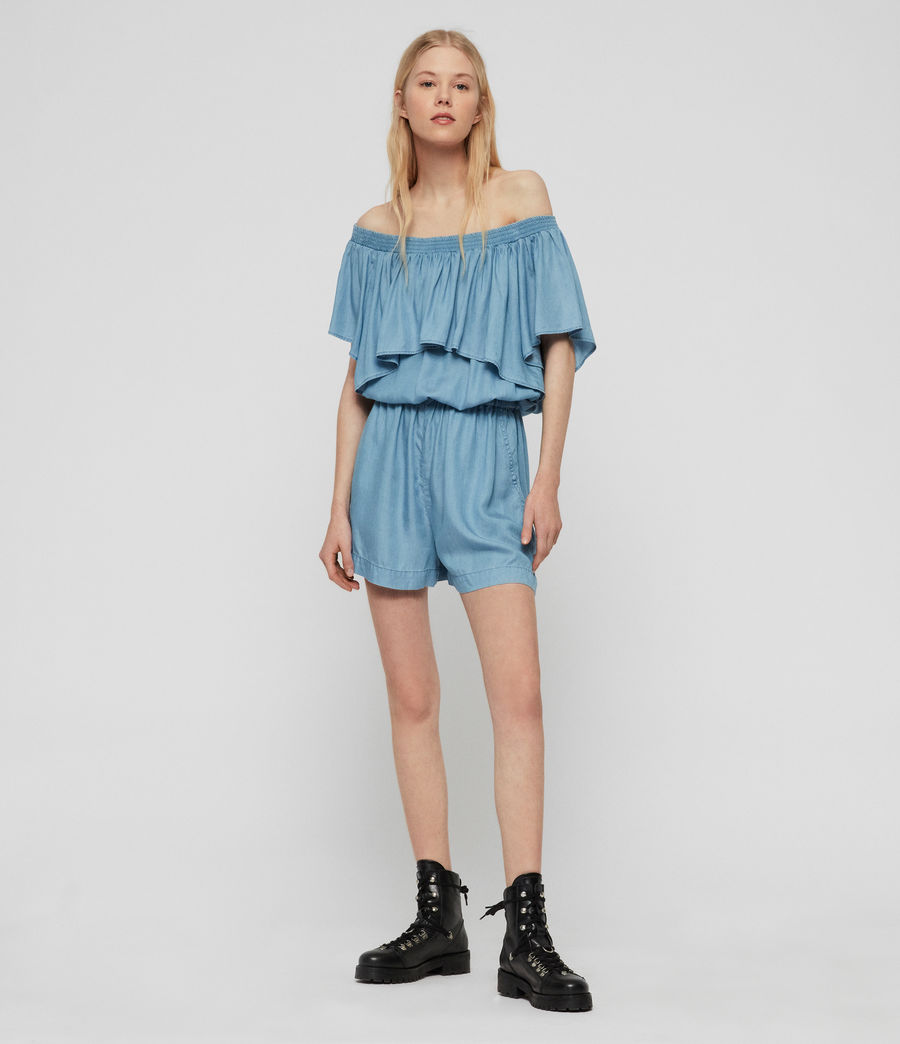 Women's Sacha Tencel Playsuit (bleach_indigo_blue) - Image 2