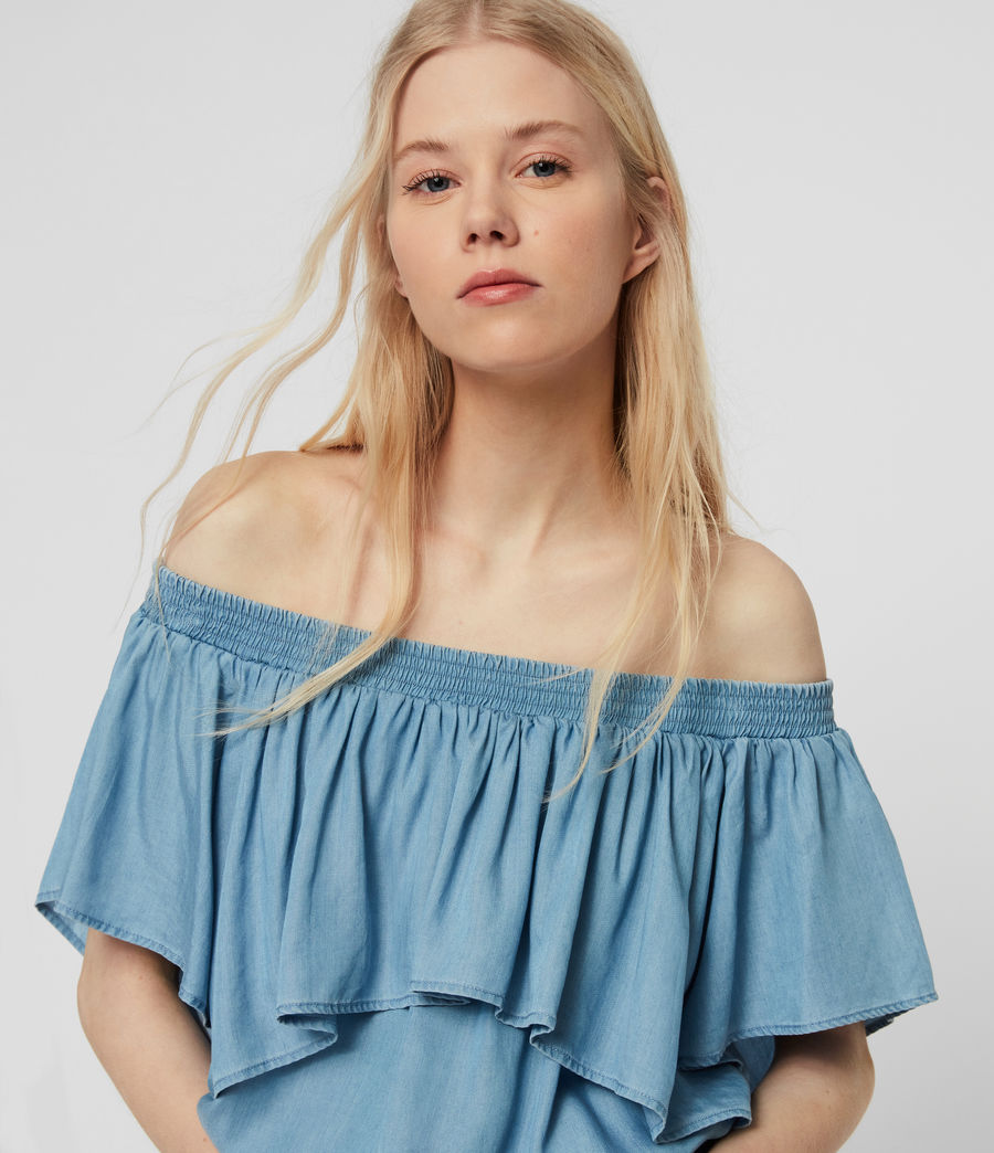 Women's Sacha Tencel Playsuit (bleach_indigo_blue) - Image 5