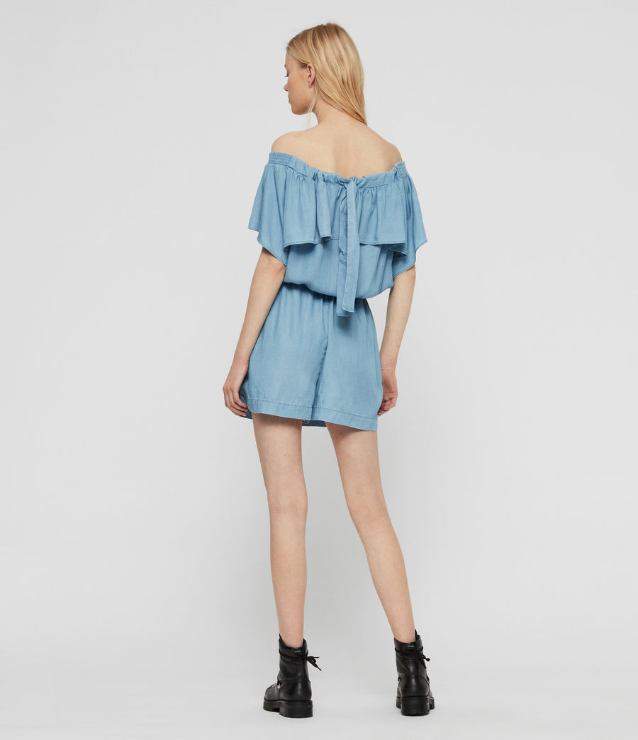 Women's Sacha Tencel Playsuit (bleach_indigo_blue) - Image 7