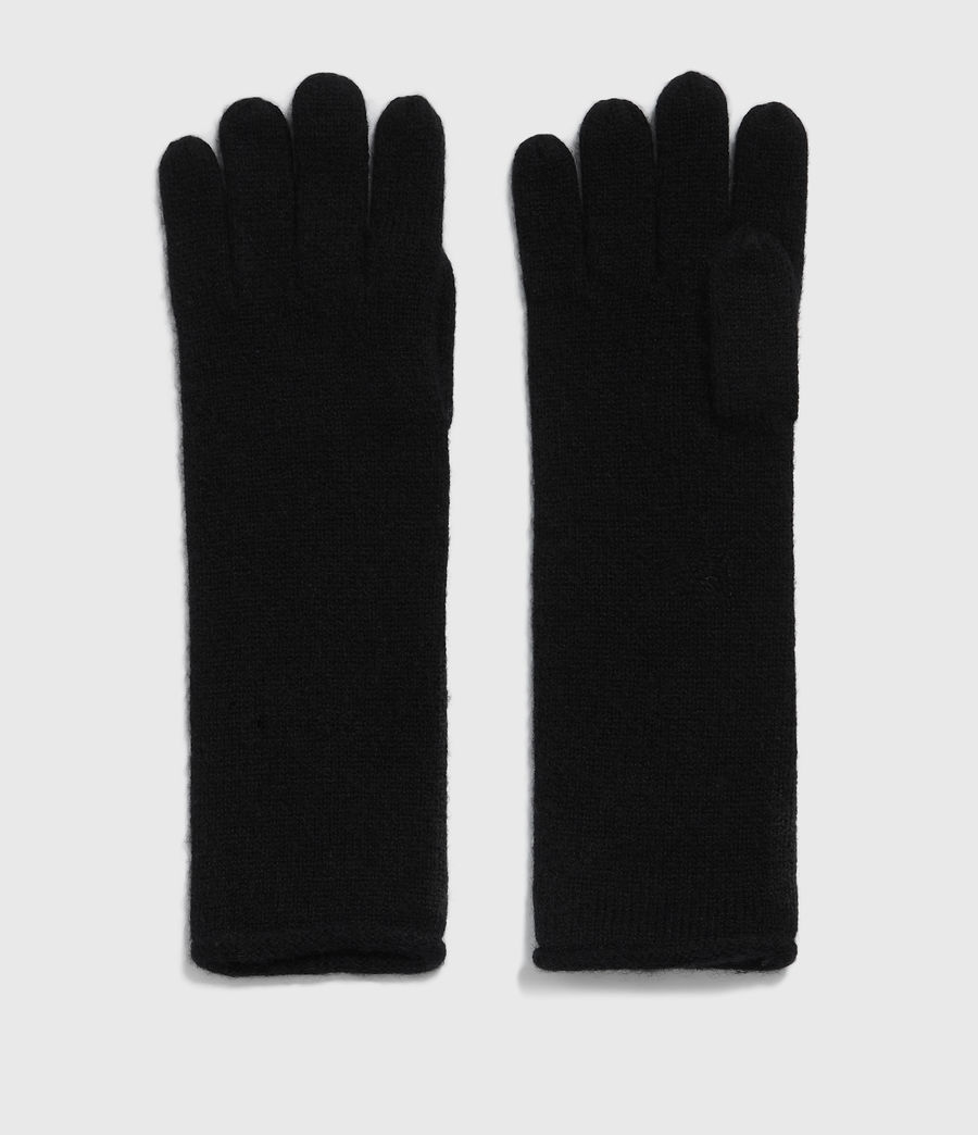 Damen Self Rolled Edge Handschuhe (black) - Image 2