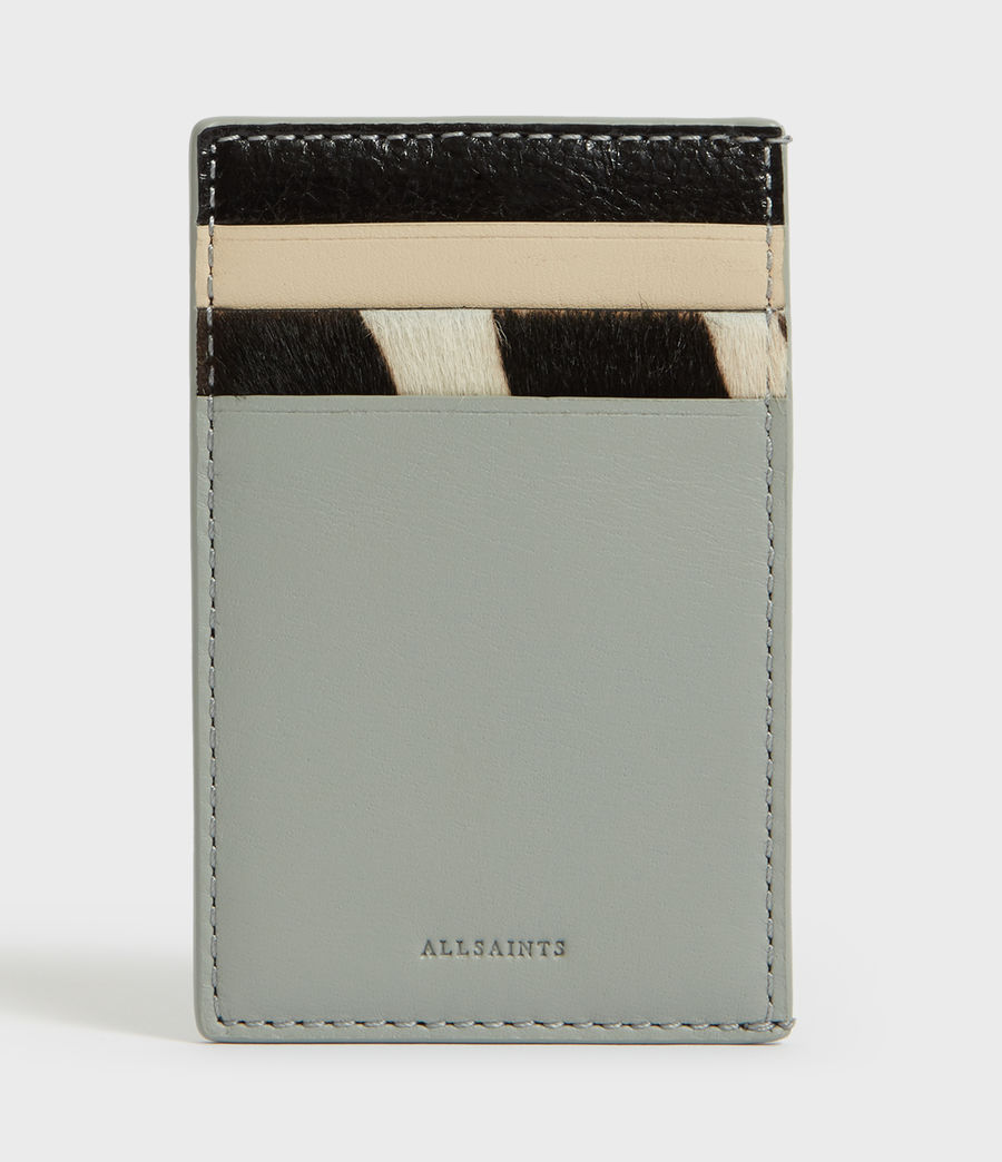 Women's Clip Multi Leather Cardholder (blue_stripe) - Image 1