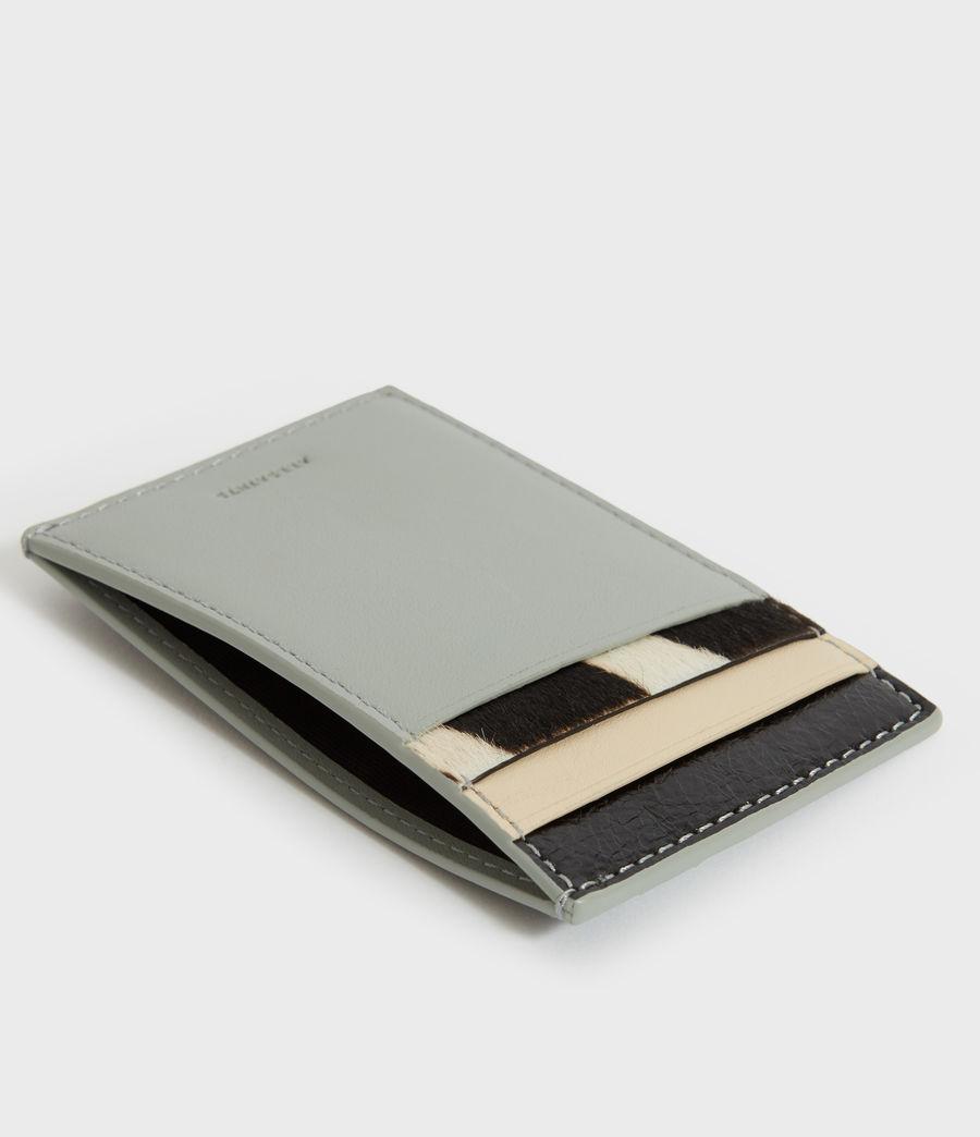 Women's Clip Multi Leather Cardholder (blue_stripe) - Image 2