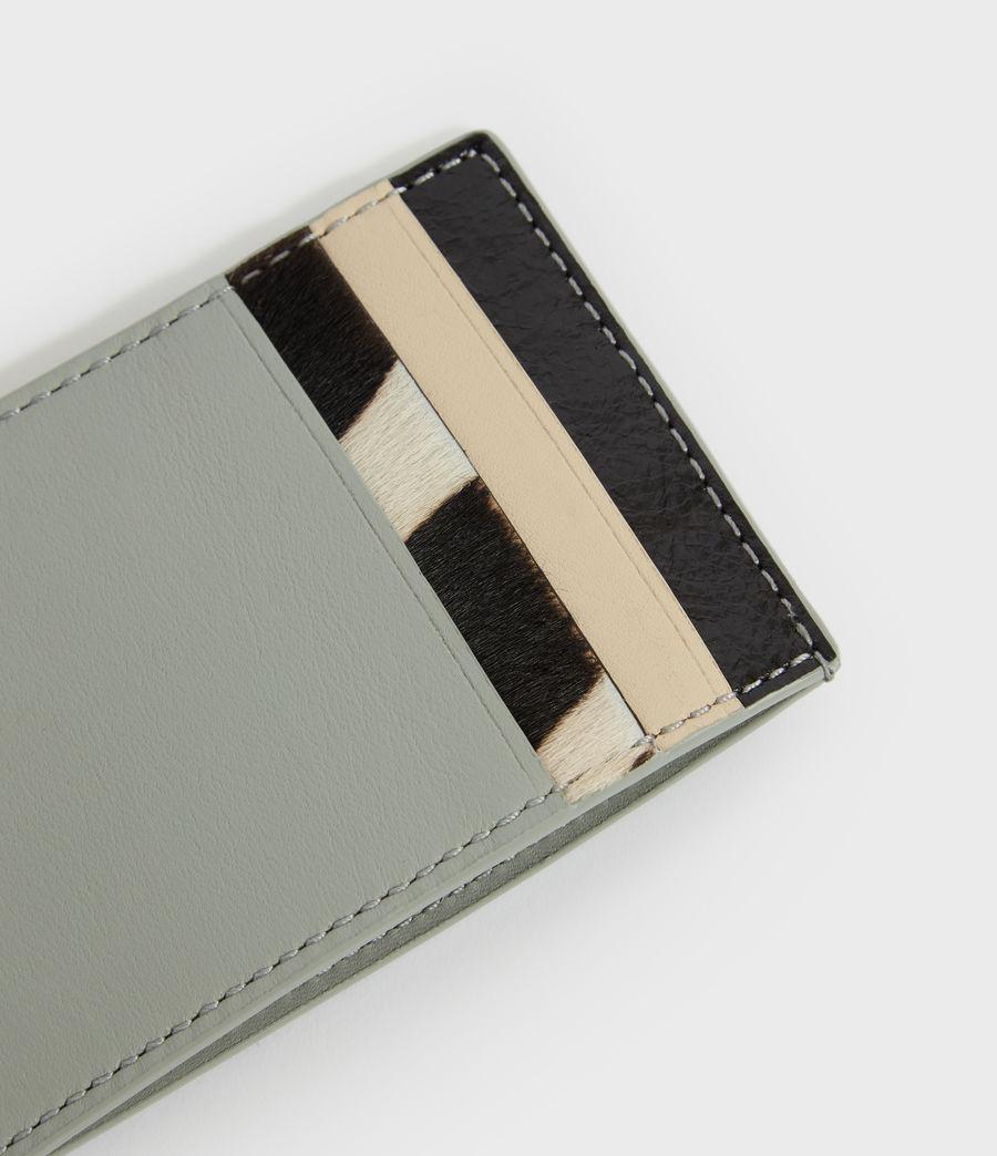Women's Clip Multi Leather Cardholder (blue_stripe) - Image 3