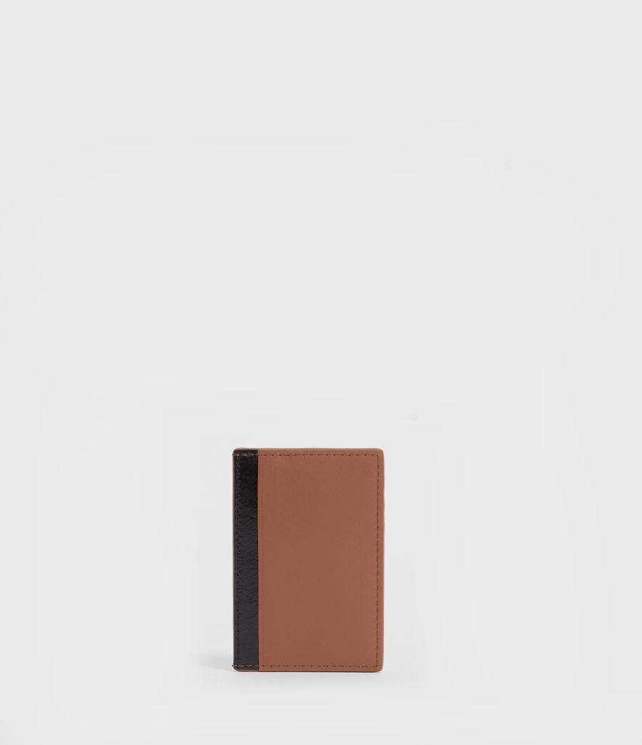 Women's Clip Multi Leather Cardholder (choco_brown_stripe) - Image 3