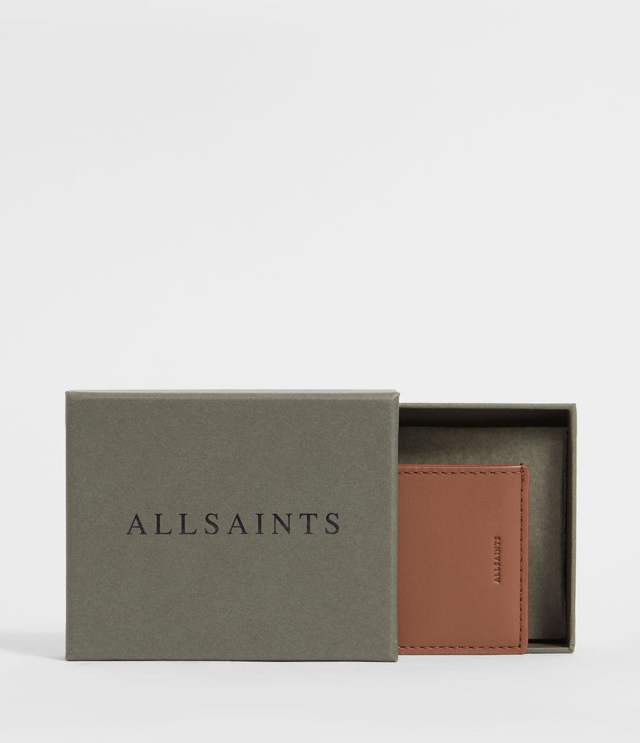 Women's Clip Multi Leather Cardholder (choco_brown_stripe) - Image 4