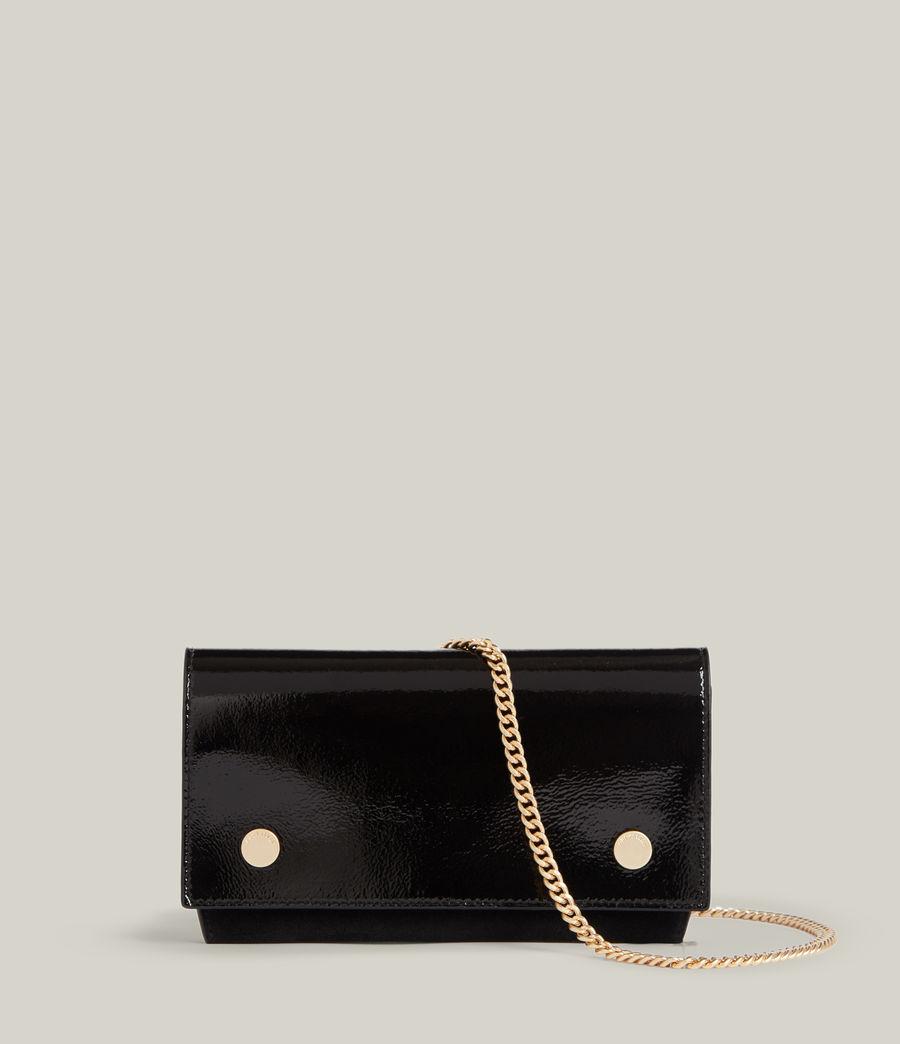 Women's Albert Leather Wallet (liquid_black) - Image 1