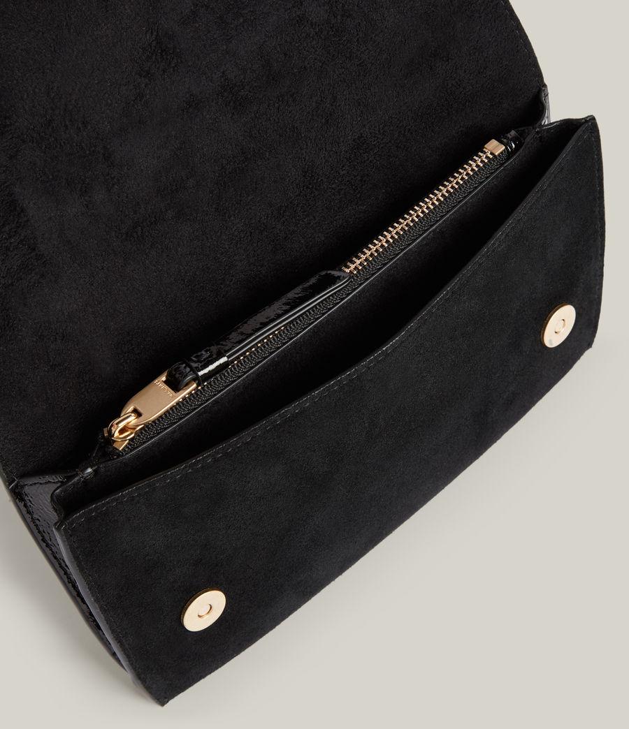 Women's Albert Leather Wallet (liquid_black) - Image 2