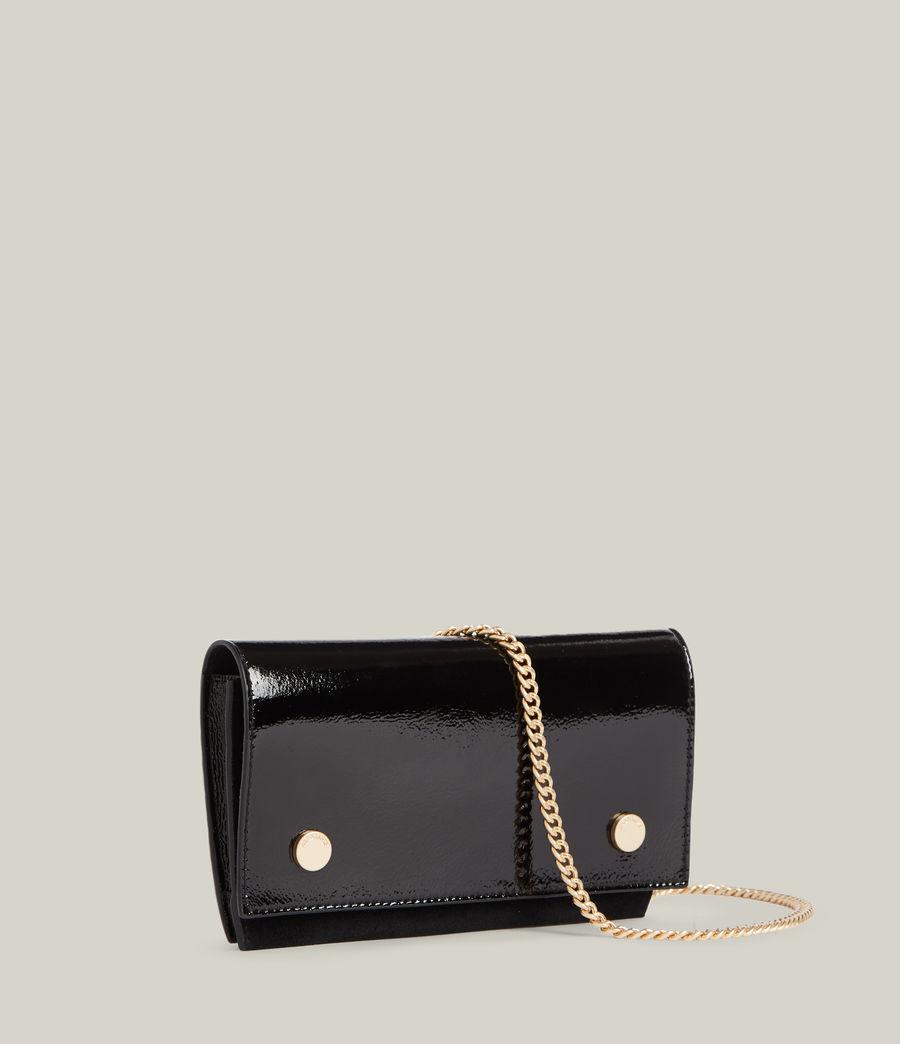 Women's Albert Leather Wallet (liquid_black) - Image 3
