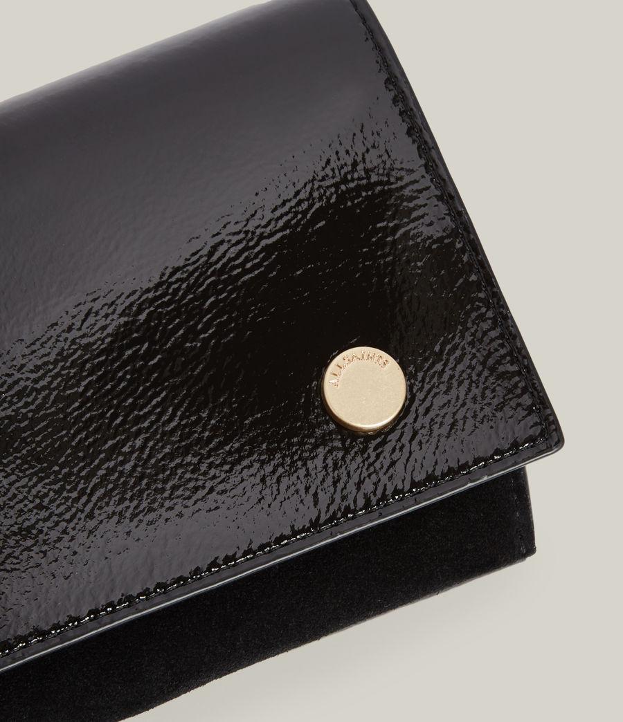 Women's Albert Leather Wallet (liquid_black) - Image 4