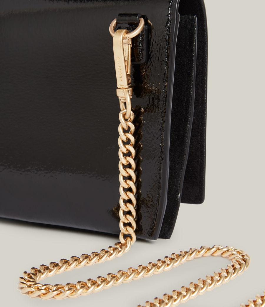 Women's Albert Leather Wallet (liquid_black) - Image 5