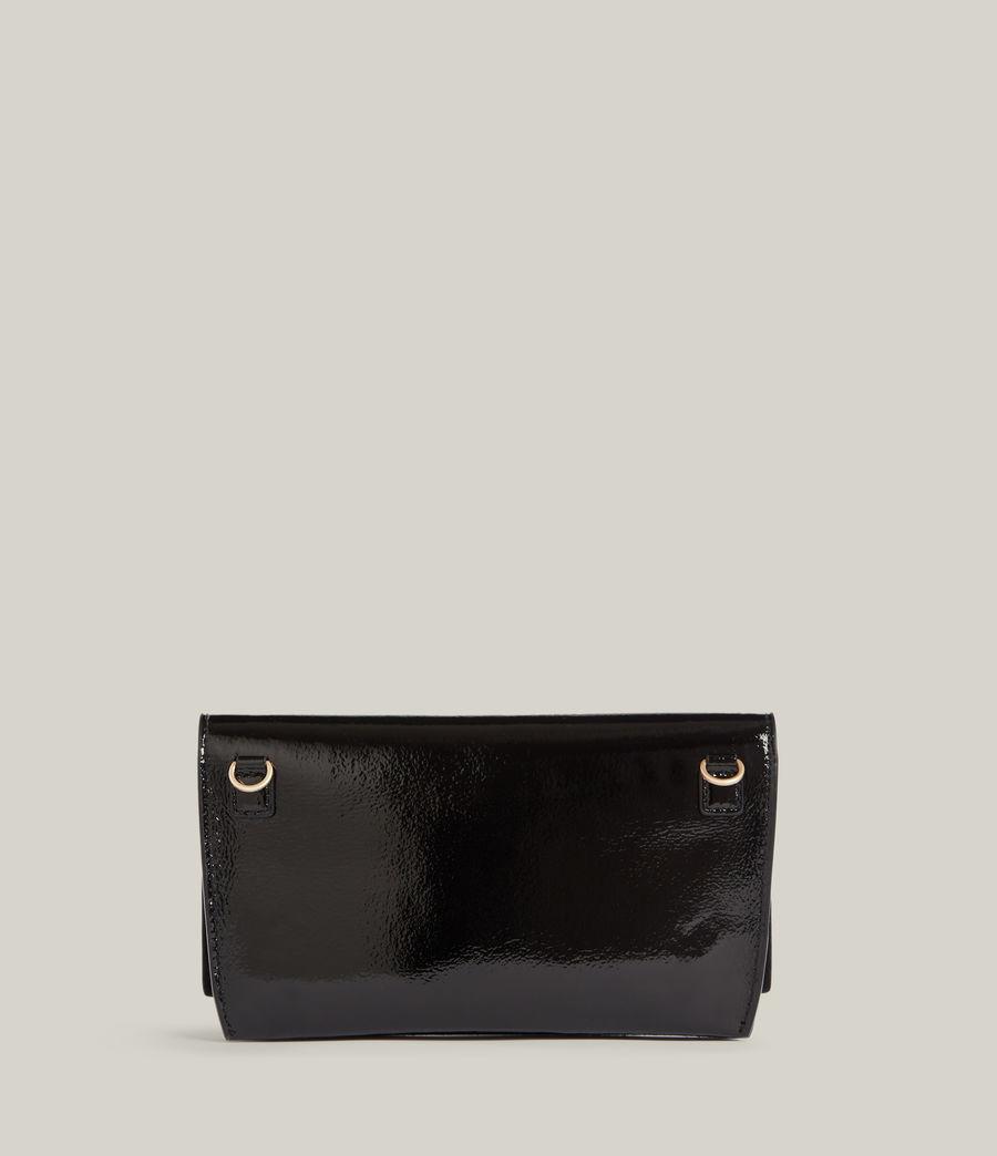 Women's Albert Leather Wallet (liquid_black) - Image 6