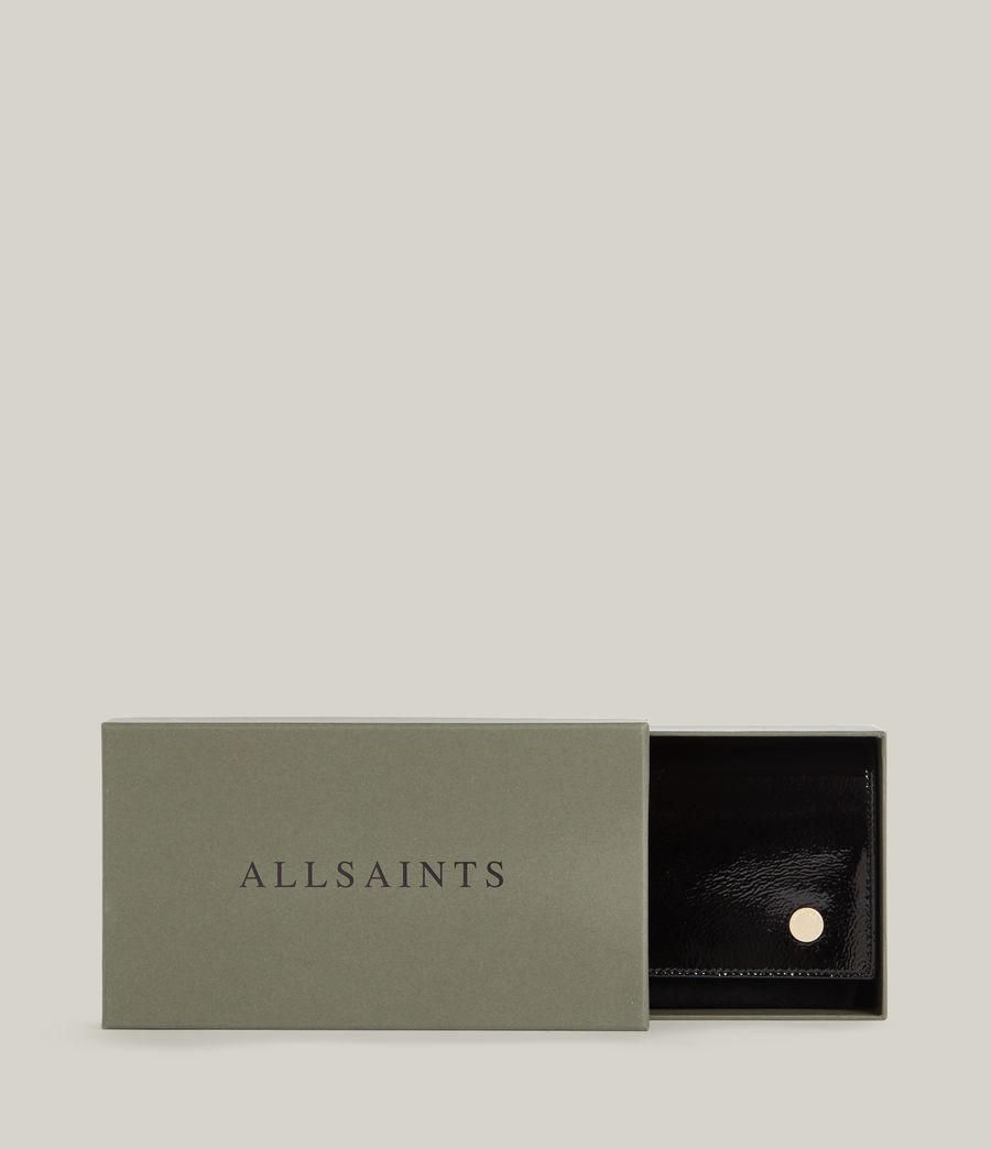 Women's Albert Leather Wallet (liquid_black) - Image 7