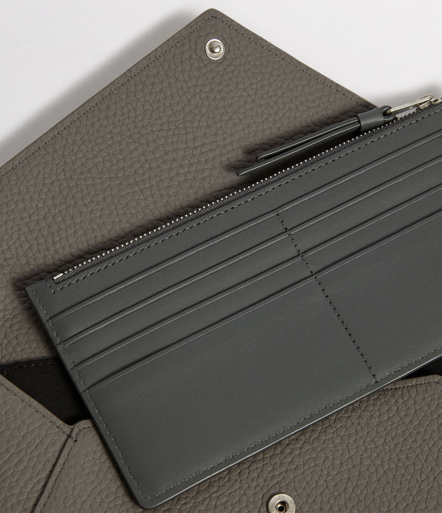 Women's Voltaire Leather Envelope Clutch (storm_grey_dk_blue) - Image 2