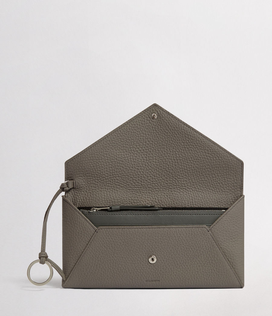 Women's Voltaire Leather Envelope Clutch (storm_grey_dk_blue) - Image 3