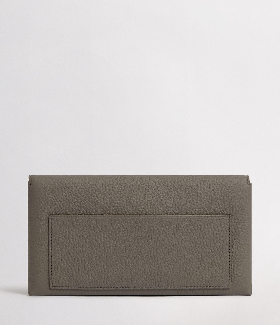 Women's Voltaire Leather Envelope Clutch (storm_grey_dk_blue) - Image 6