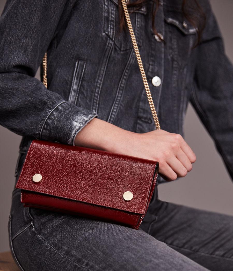 Women's Albert Leather Wallet (liquid_rouge) - Image 4