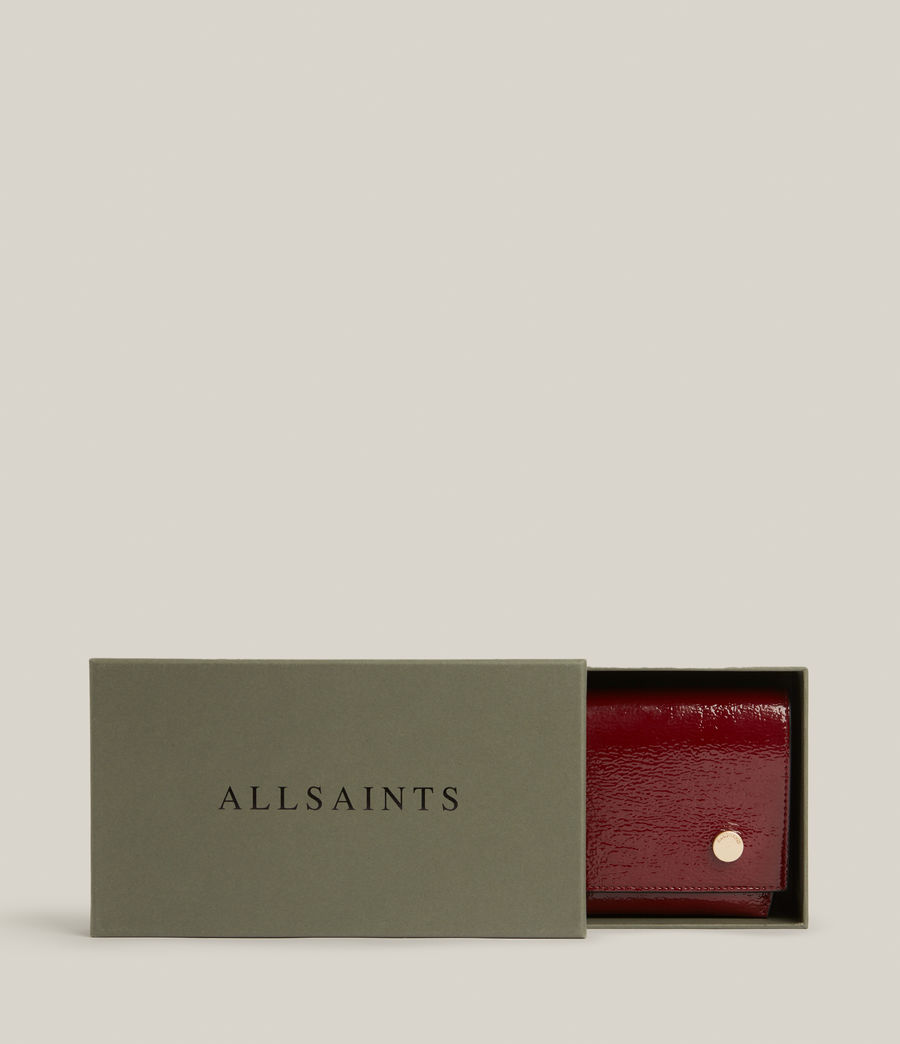 Women's Albert Leather Wallet (liquid_rouge) - Image 9