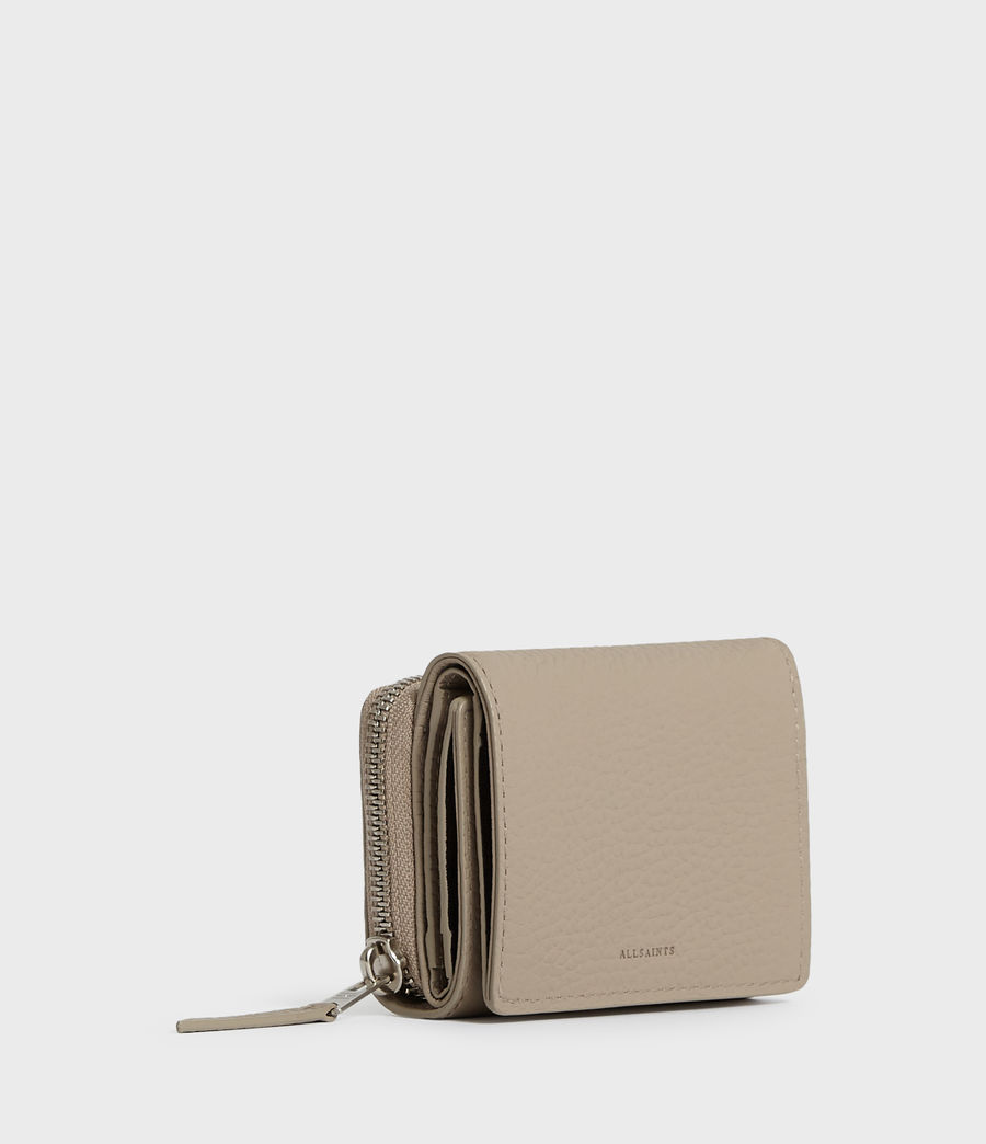 Womens Captain Small Leather Wallet (dune) - Image 3