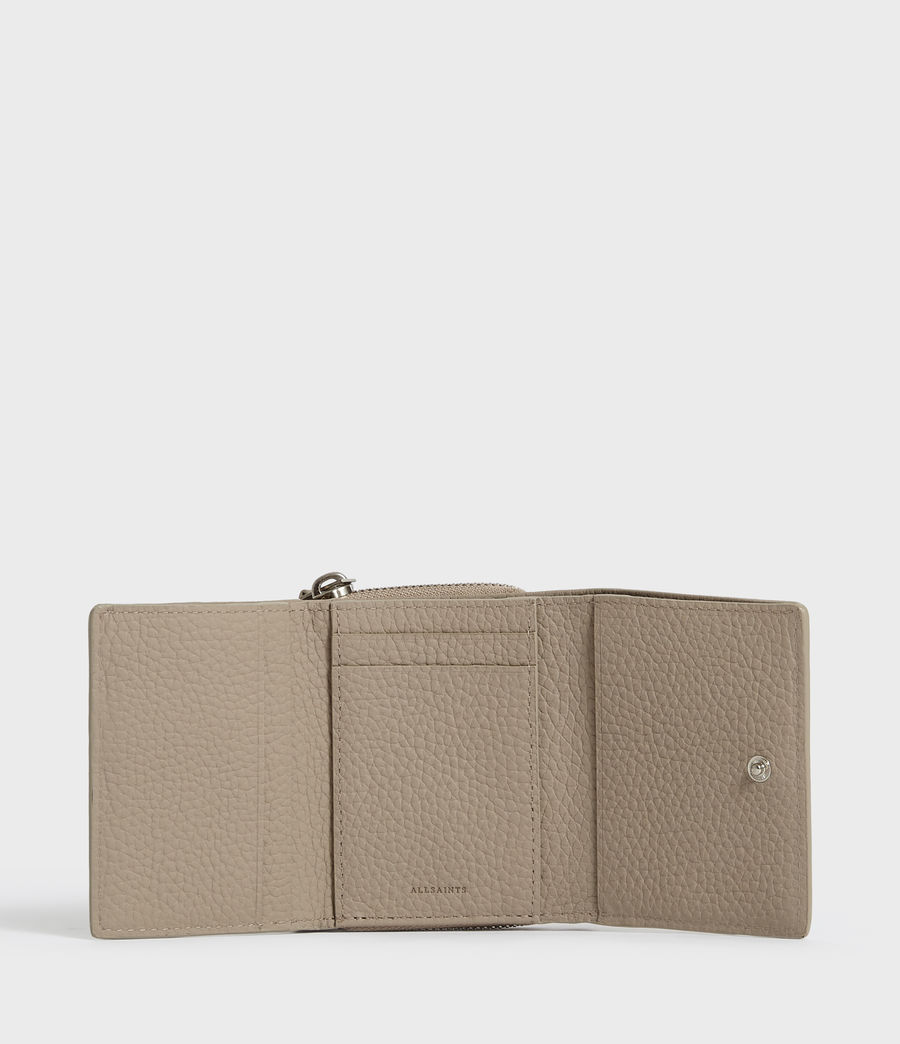 Womens Captain Small Leather Wallet (dune) - Image 4