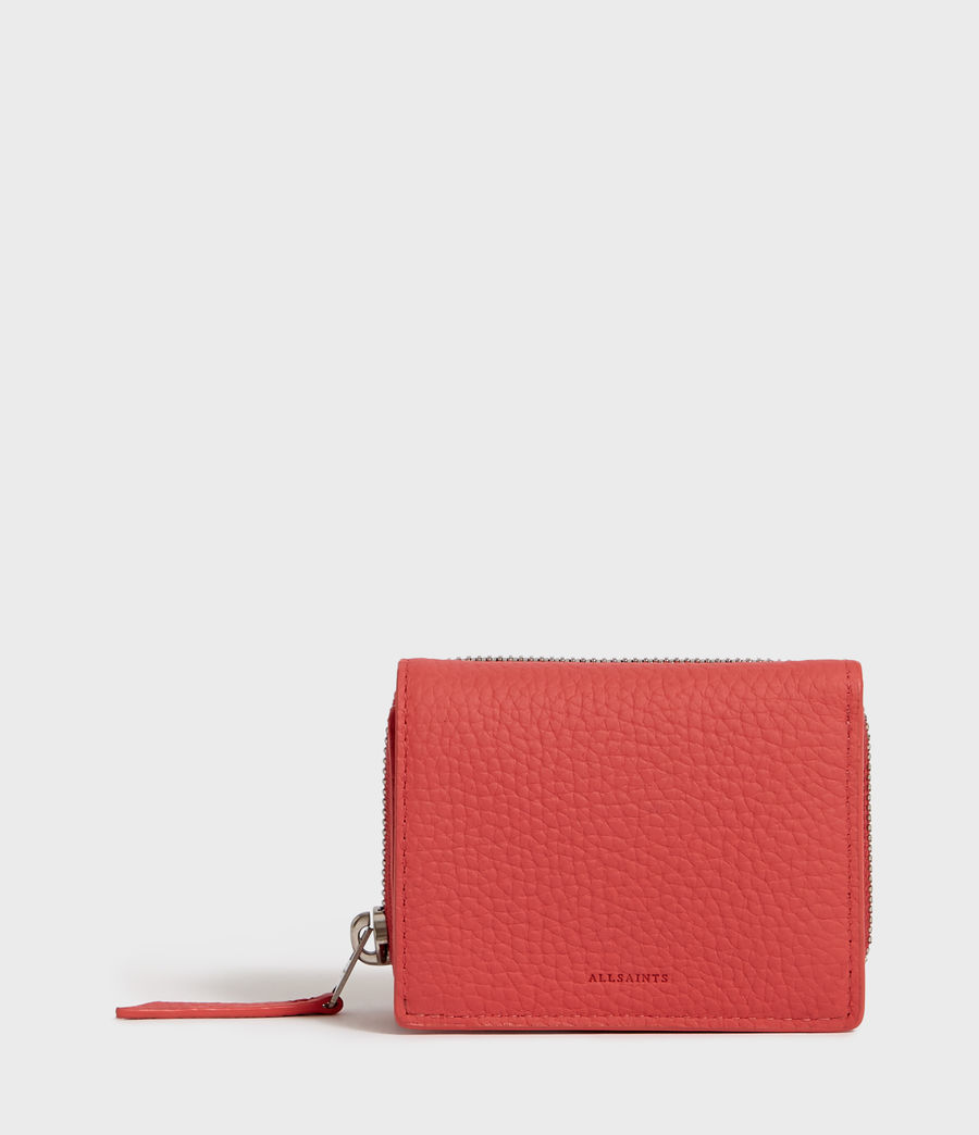 Womens Captain Small Leather Wallet (coral_pink) - Image 1