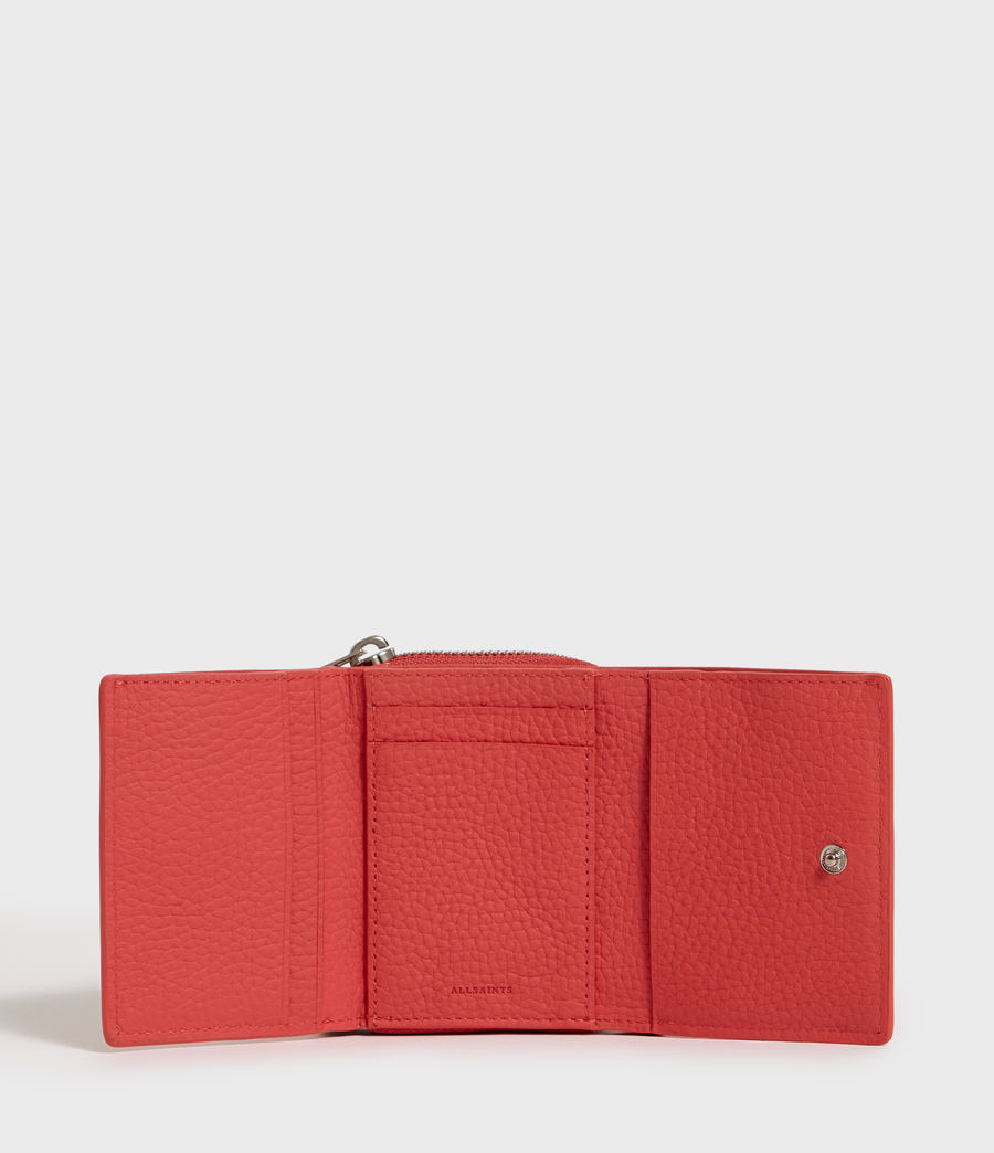 Womens Captain Small Leather Wallet (coral_pink) - Image 4