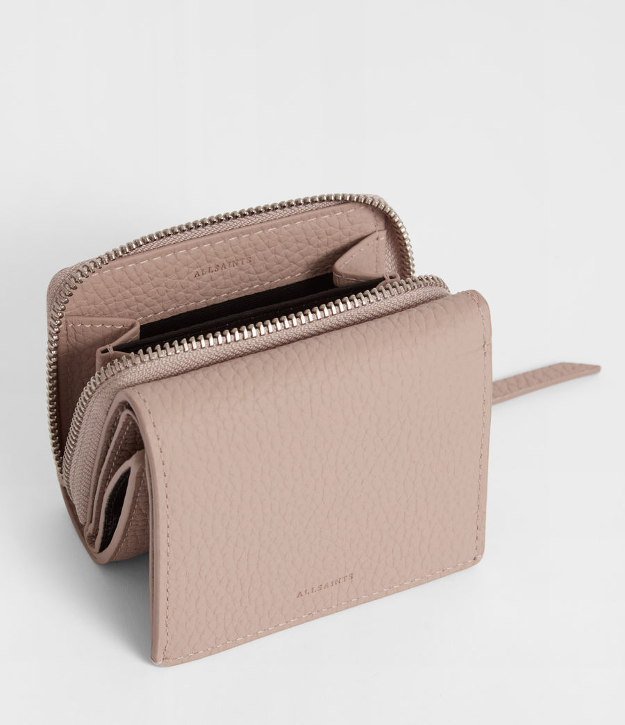 Women's Captain Leather Small Wallet (sand_beige) - Image 2