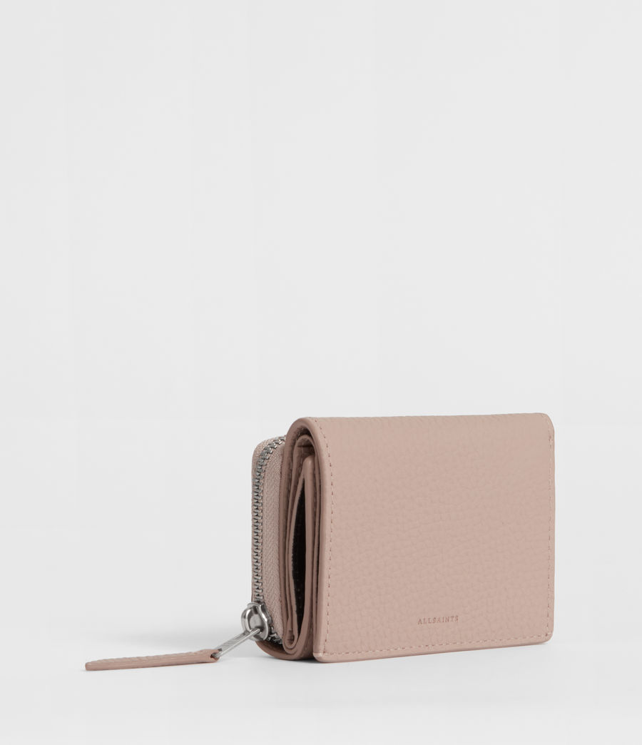 Womens Captain Small Leather Wallet (sand_beige) - Image 3