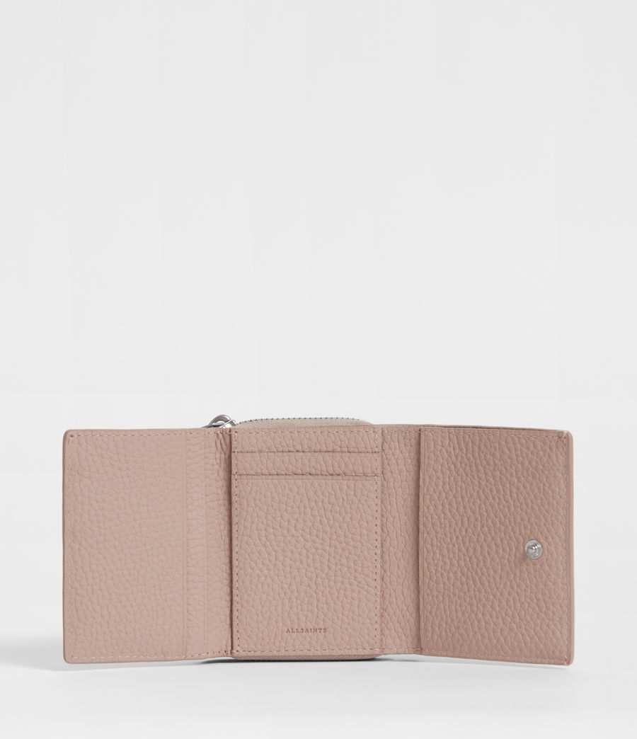 Womens Captain Small Leather Wallet (sand_beige) - Image 4