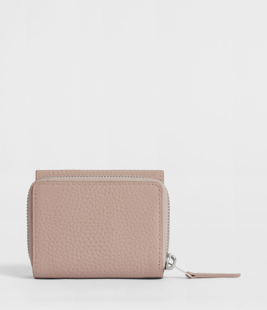 Womens Captain Small Leather Wallet (sand_beige) - Image 5