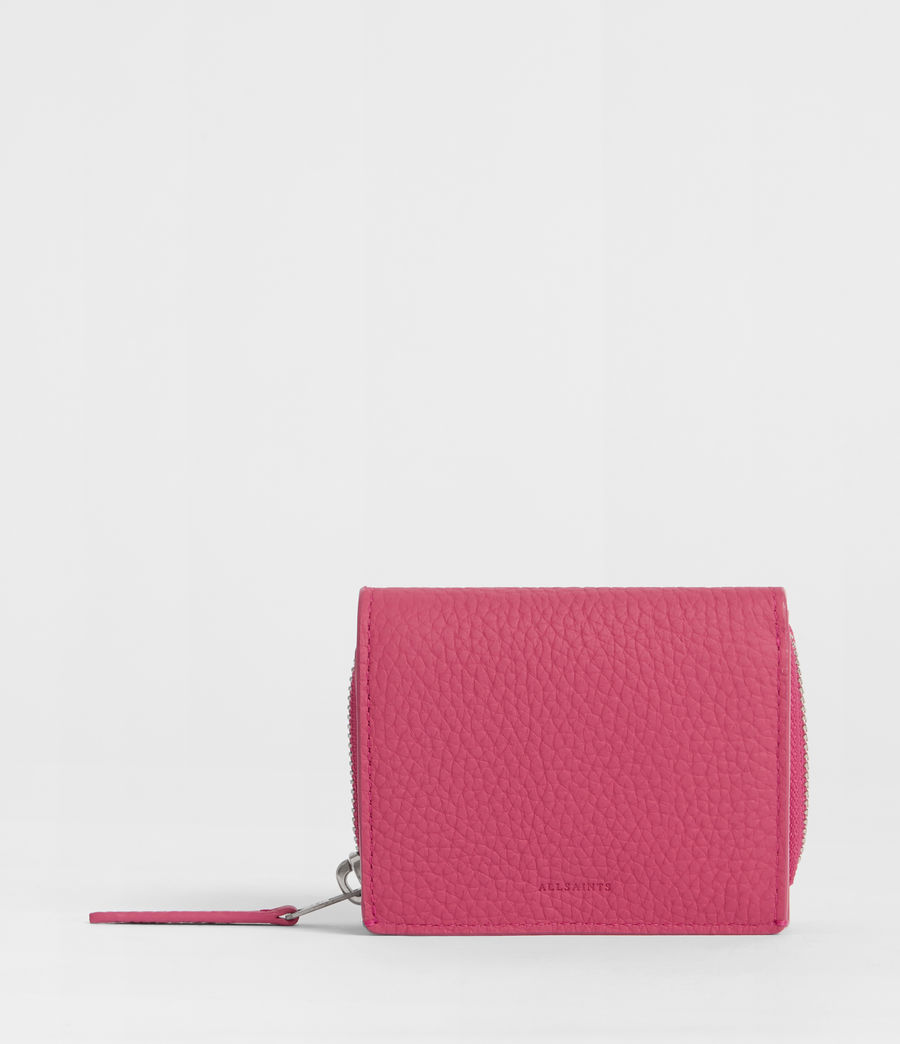 Women's Captain Leather Small Wallet (fuschia_pink) - Image 1