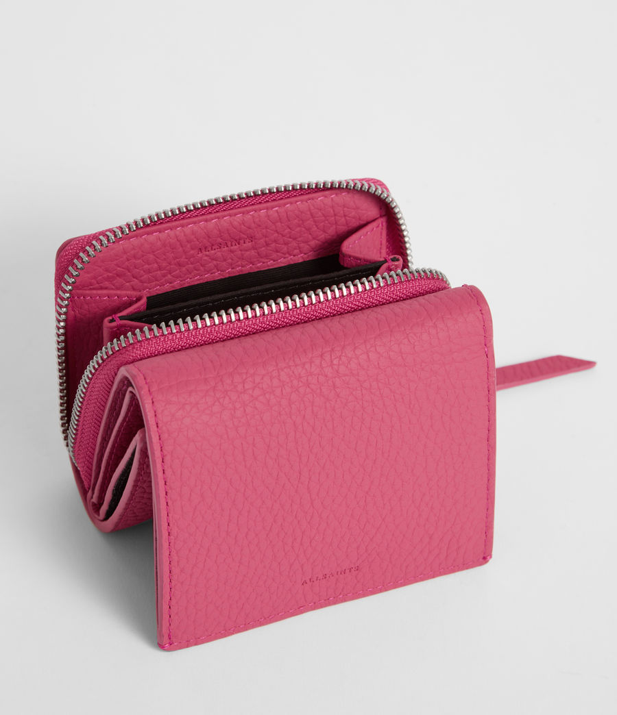 Women's Captain Leather Small Wallet (fuschia_pink) - Image 2