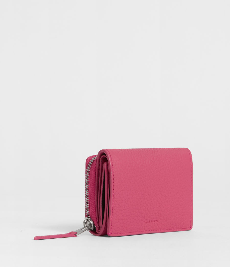 Womens Captain Leather Small Wallet (fuschia_pink) - Image 3