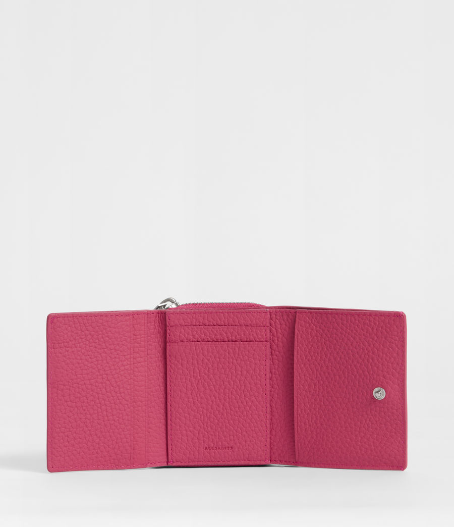 Womens Captain Leather Small Wallet (fuschia_pink) - Image 4