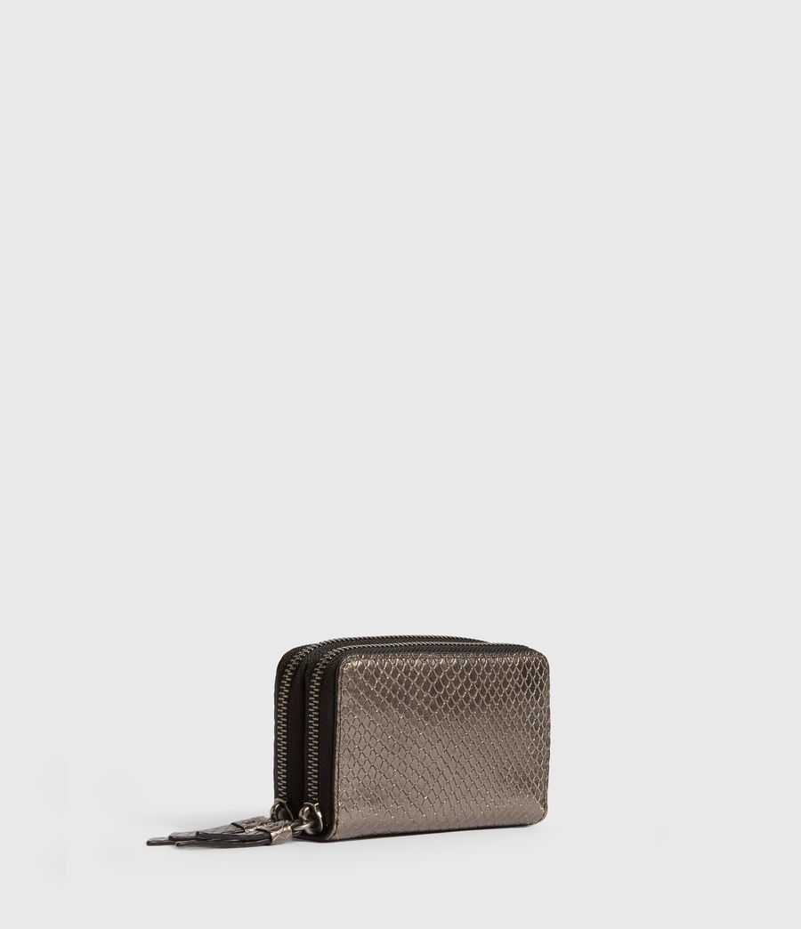 Womens Fetch Leather Cardholder (gunmetal) - Image 3