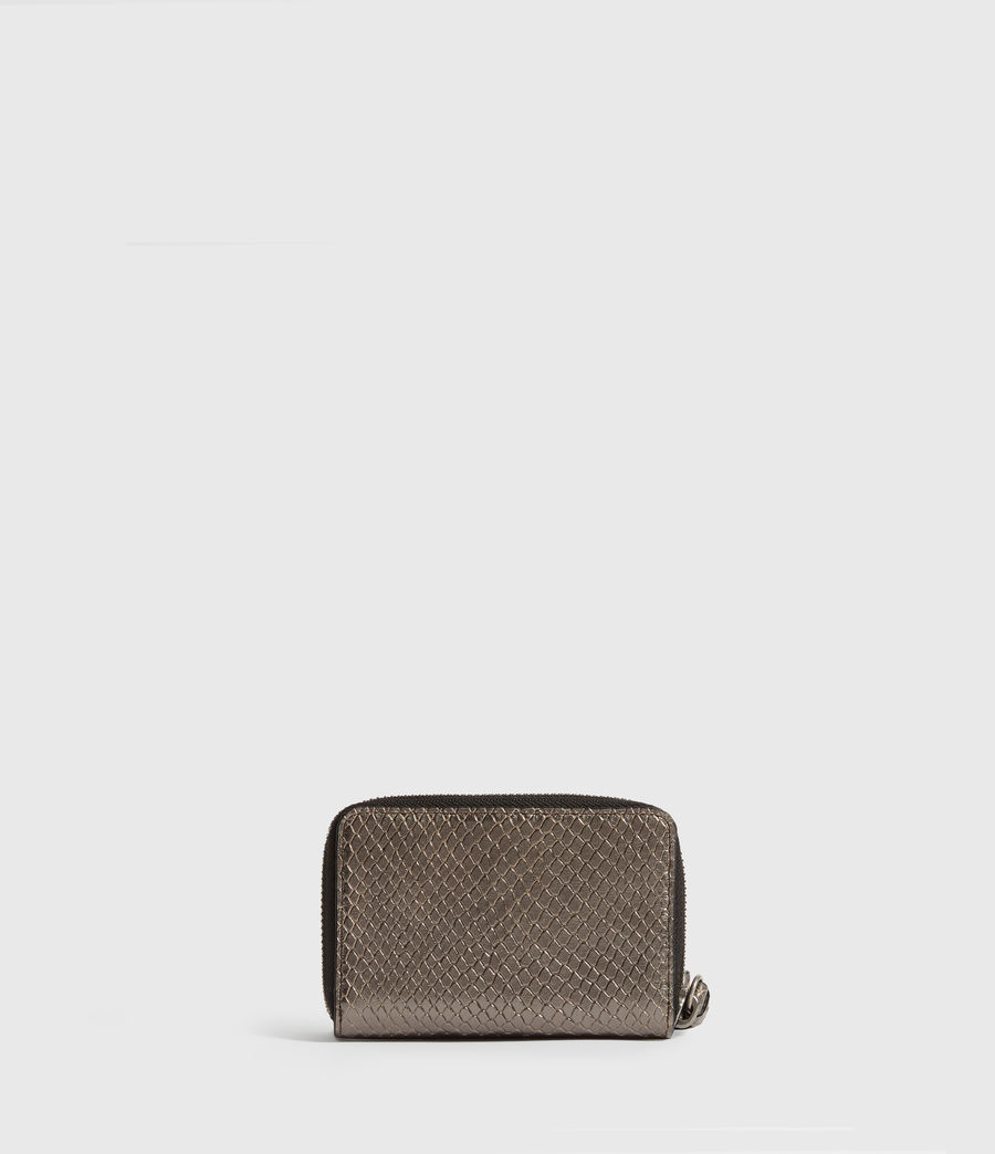 Womens Fetch Leather Cardholder (gunmetal) - Image 5