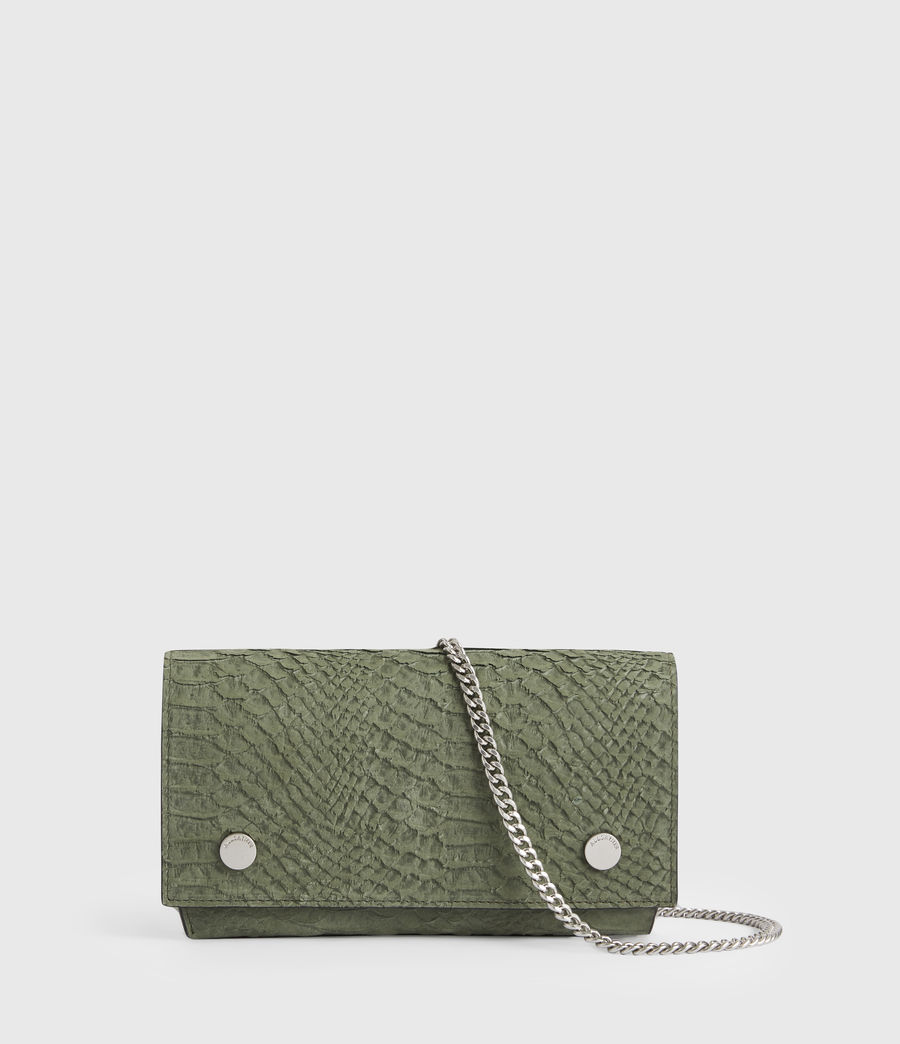 Women's Albert Leather Wallet (sage_green) - Image 1