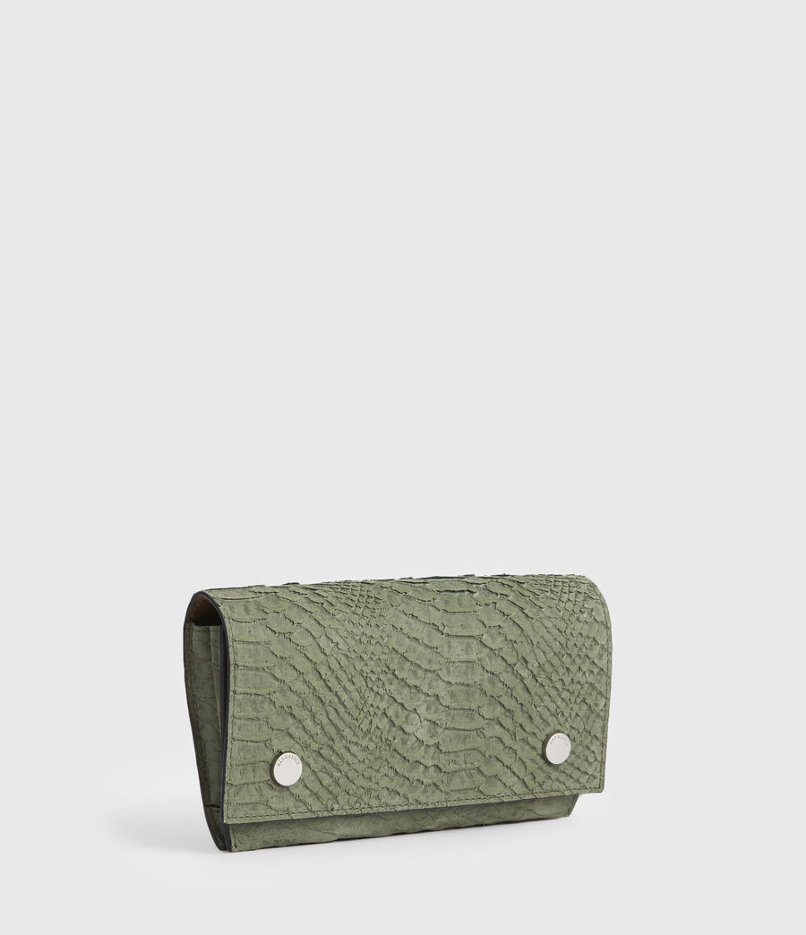Women's Albert Leather Wallet (sage_green) - Image 3