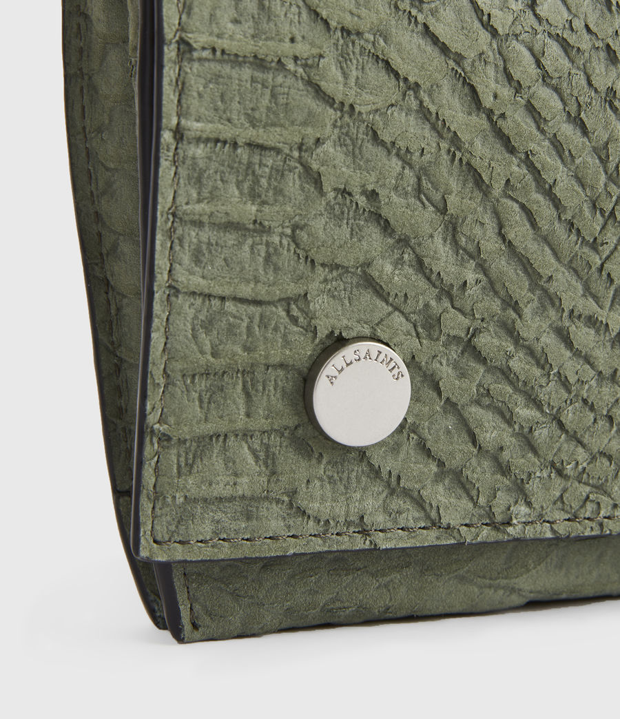 Women's Albert Leather Wallet (sage_green) - Image 4