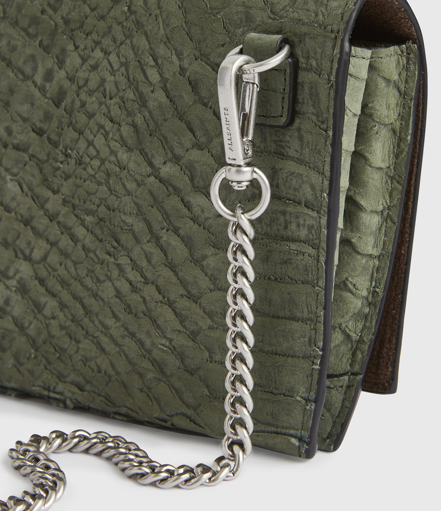 Women's Albert Leather Wallet (sage_green) - Image 5