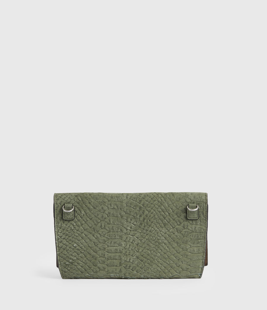 Women's Albert Leather Wallet (sage_green) - Image 6