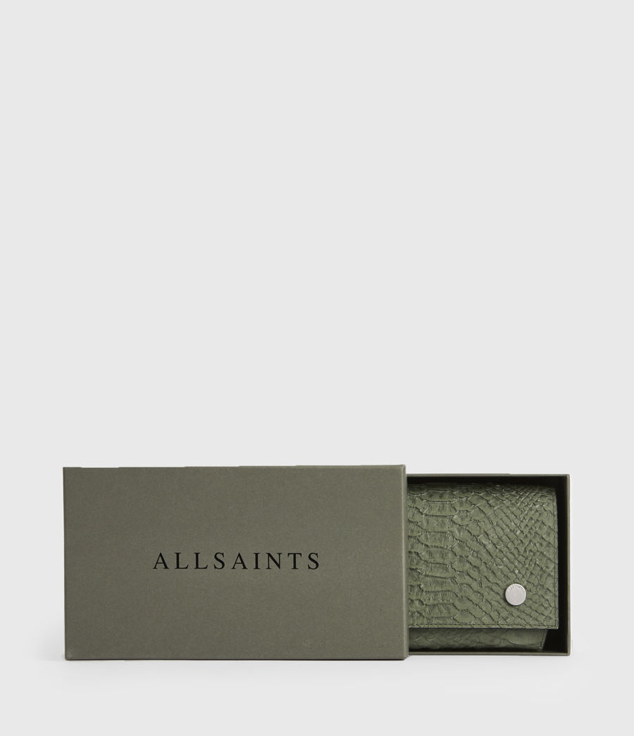 Women's Albert Leather Wallet (sage_green) - Image 7