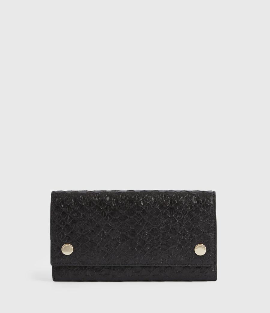 Women's Holland Leather Wallet (black_python) - Image 1