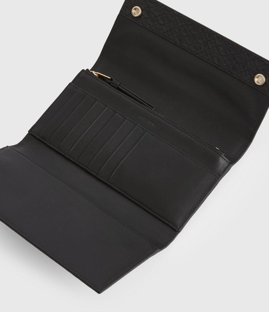 Women's Holland Leather Wallet (black_python) - Image 2