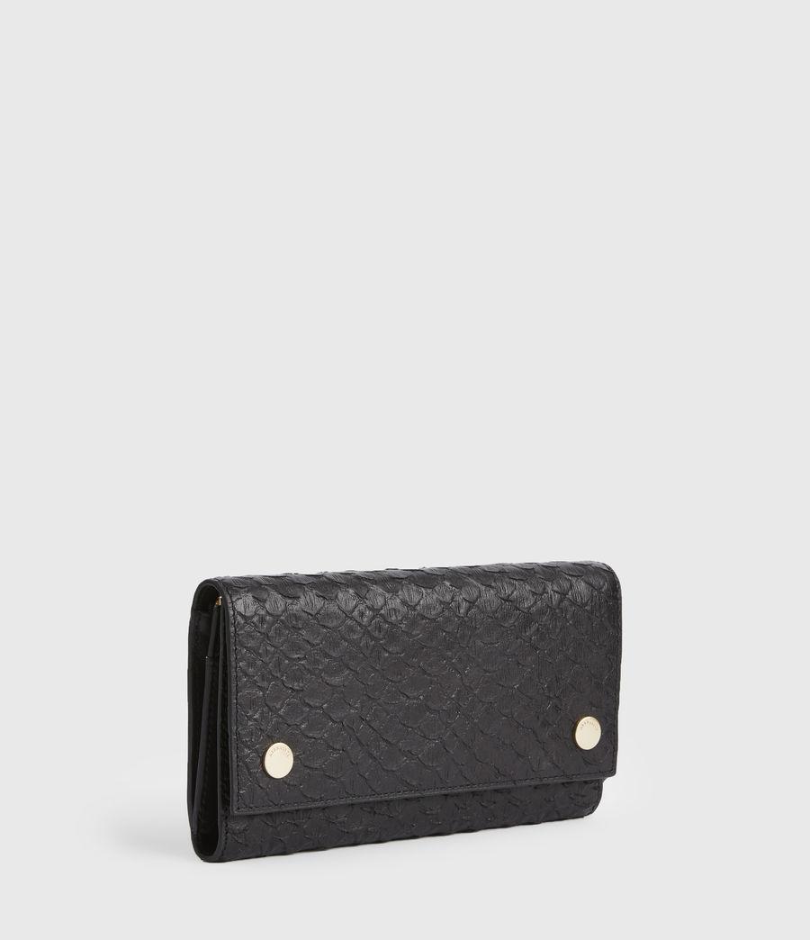 Women's Holland Leather Wallet (black_python) - Image 3