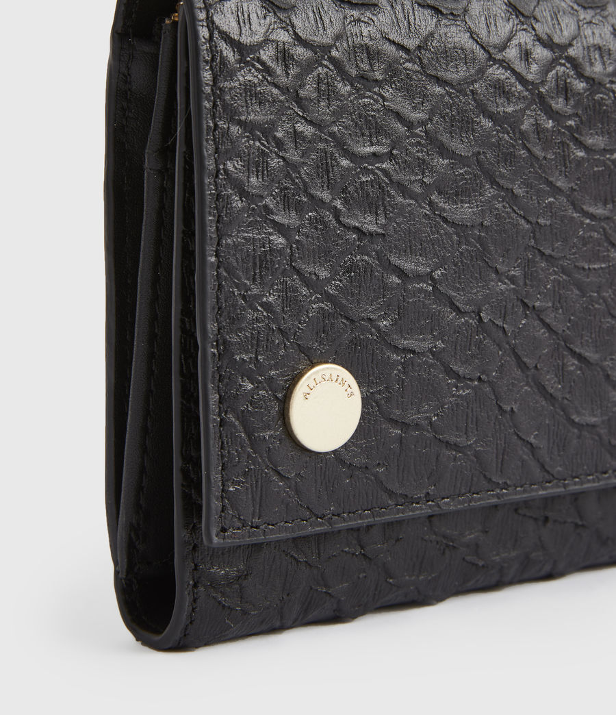 Women's Holland Leather Wallet (black_python) - Image 4