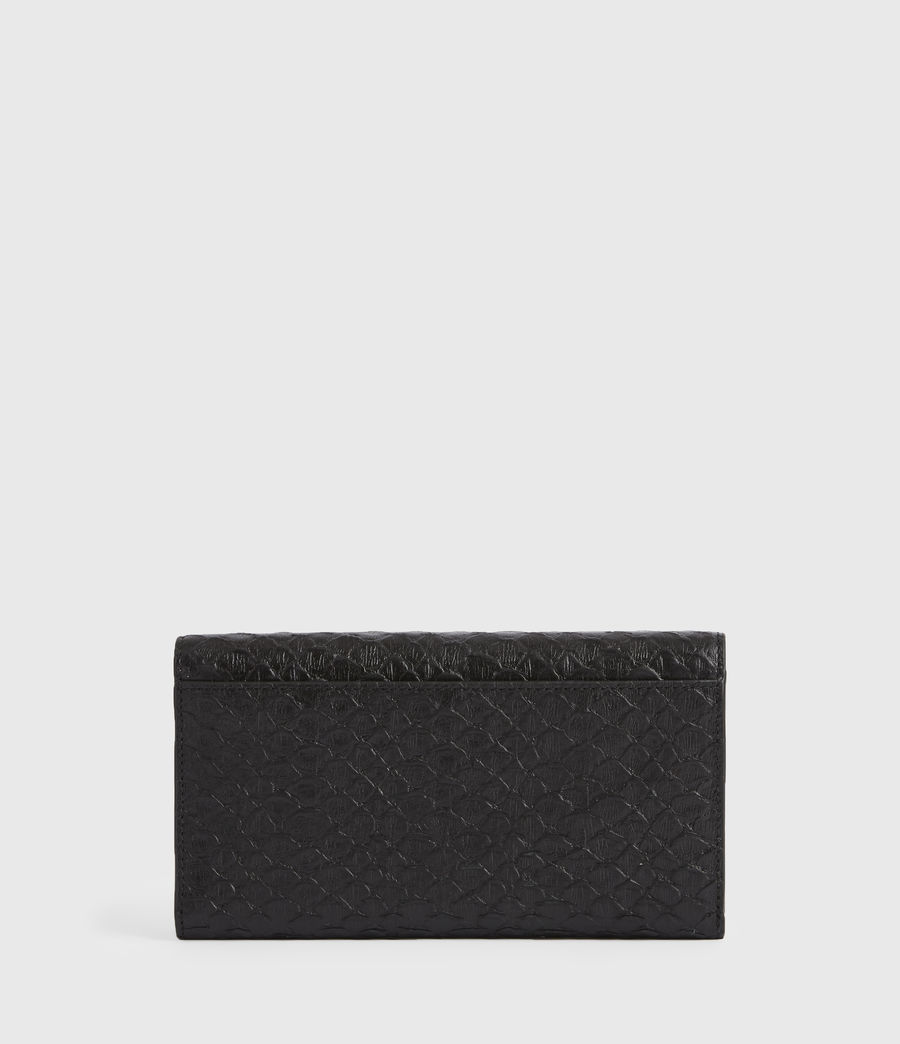 Women's Holland Leather Wallet (black_python) - Image 6