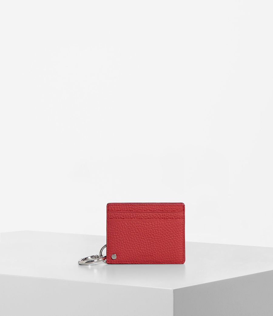 Women's Fetch Mirror Cardholder (coral_red) - Image 1