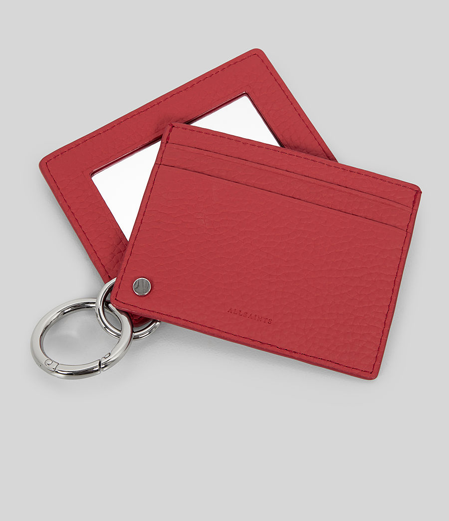 Women's Fetch Mirror Cardholder (coral_red) - Image 2