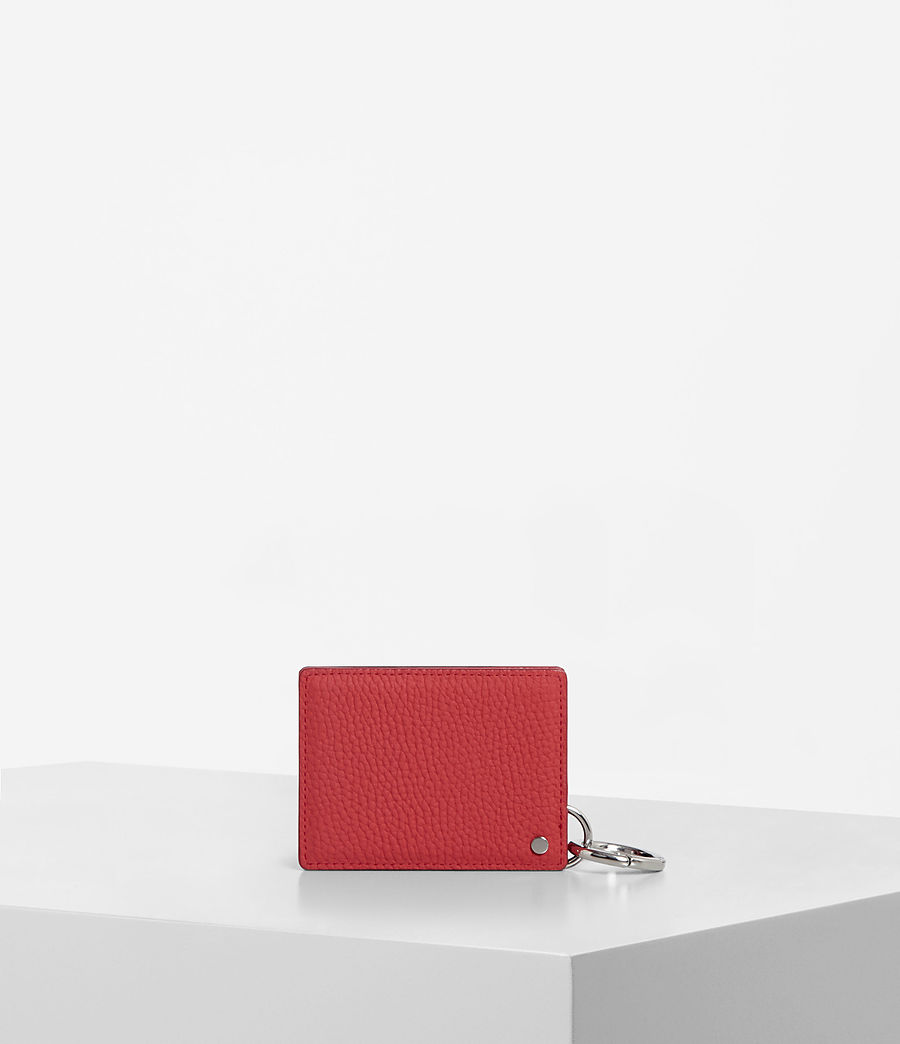 Women's Fetch Mirror Cardholder (coral_red) - Image 3