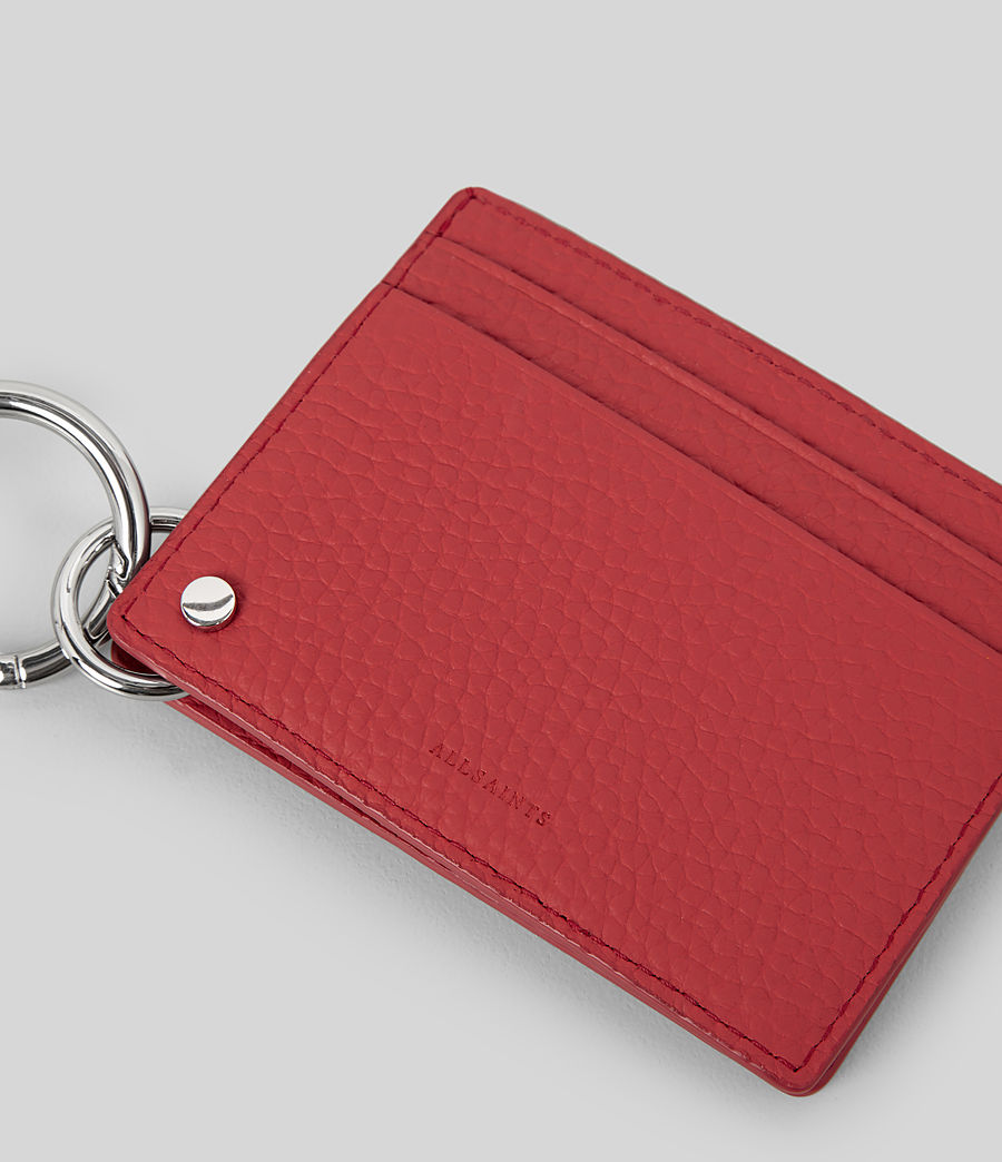 Women's Fetch Mirror Cardholder (coral_red) - Image 4